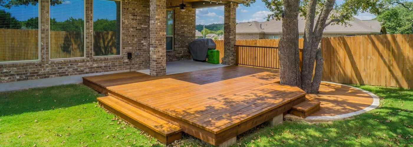 Even a small backyard deck will add value to your home.