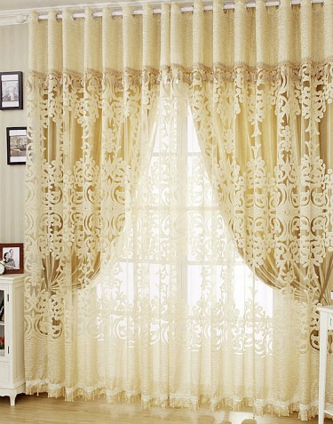 Lacy window curtains