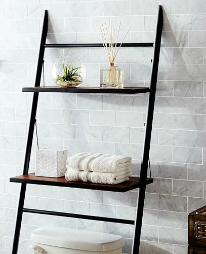 Ladder shelving by Pottery Barn