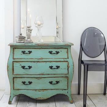 Green Shabby Chic Dresser