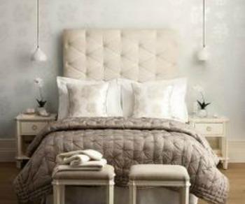 Monochromatic bedroom interior design pictures