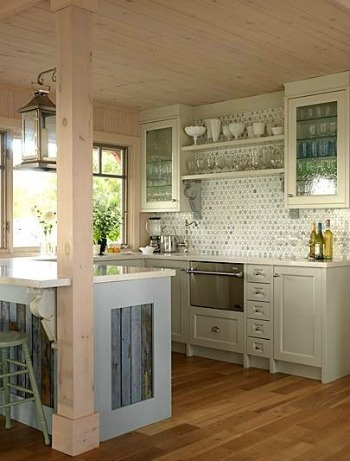 Kitchen with white ceiling