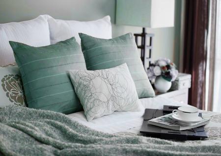 Cozy bedroom vignette design interior pictures