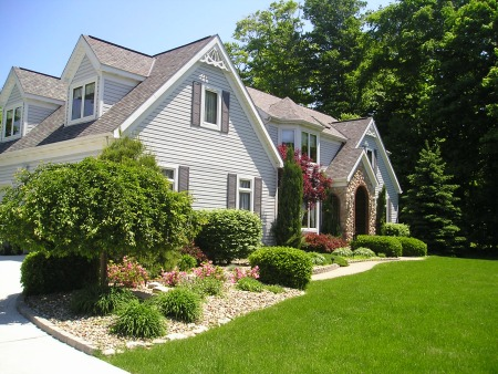 Lovely home exterior in neutral colors