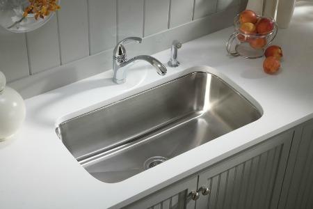 cleaning the kitchen sink. Black Bedroom Furniture Sets. Home Design Ideas