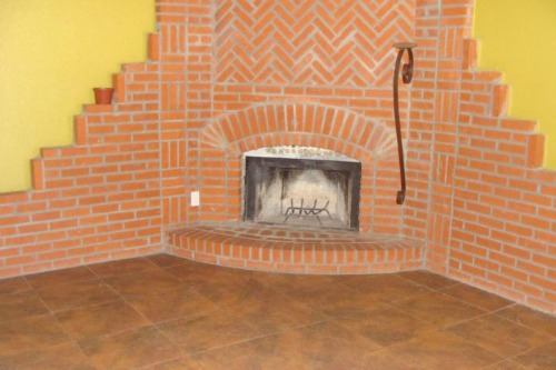 Really ugly brick fireplace