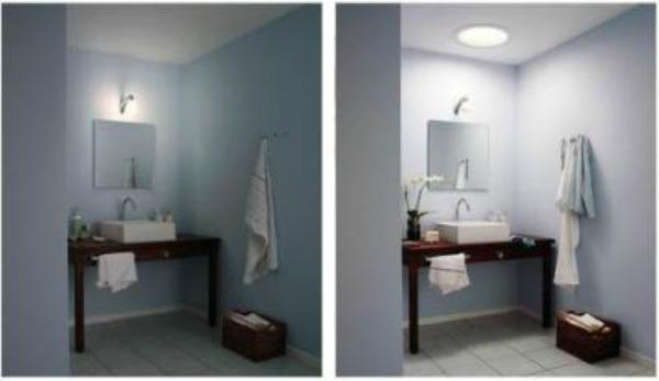 Bathroom with solar tube added