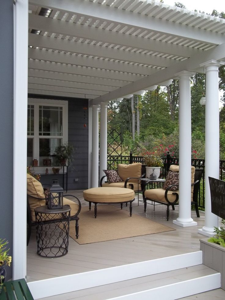 Create a cozy front porch sitting area.