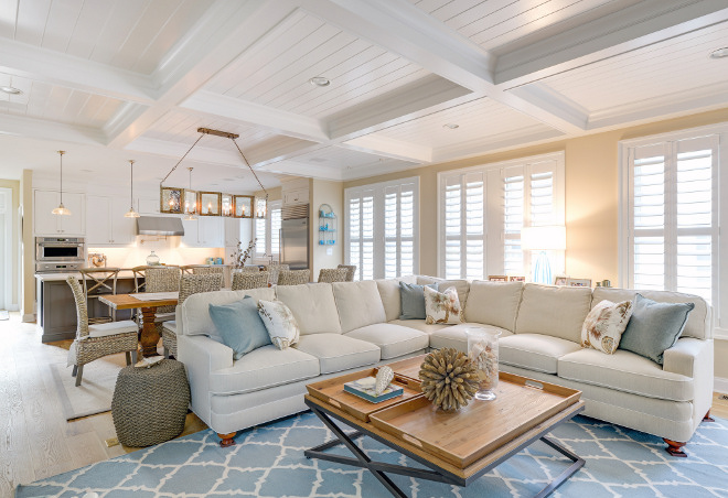 Open concept. Interior colors for home staging.