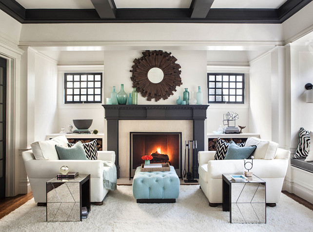 Staging The Living Room, How To Decorate A Small Living Room With Fireplace