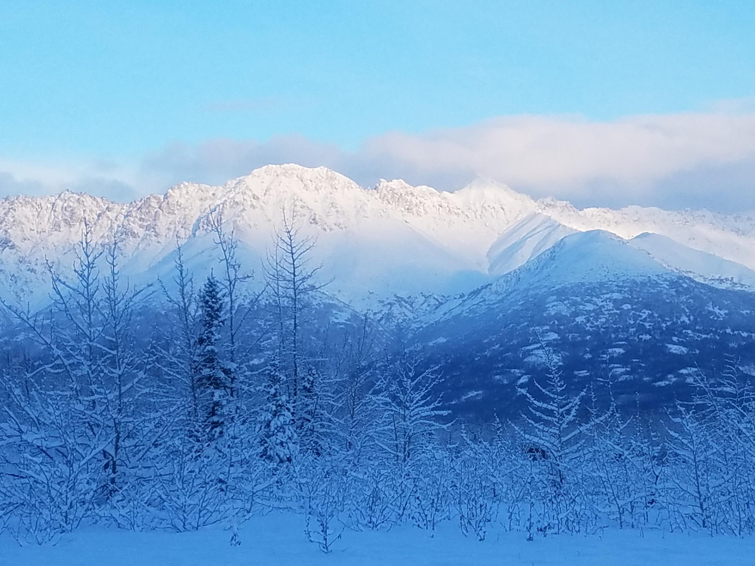 View along the Knik River, Alaska.