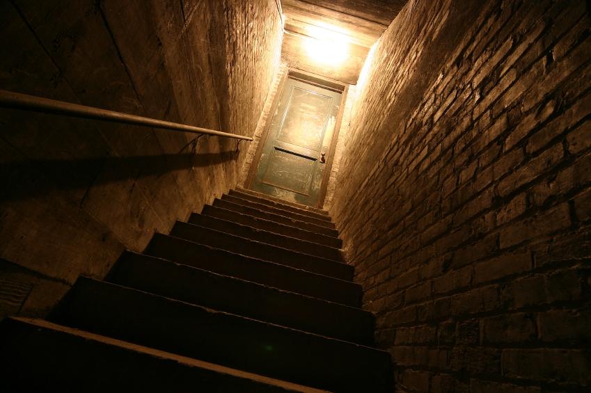 Creepy basement stairs.