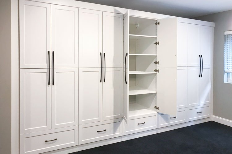 Adding cabinets and shelving in the basement will increase the value of your house.