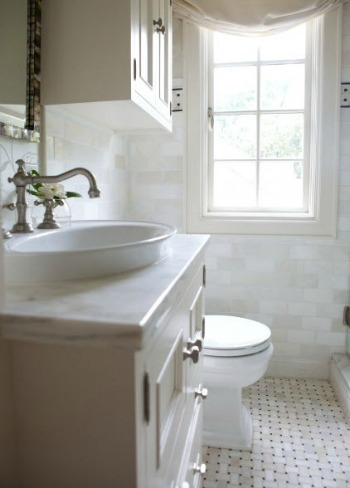 White bathroom with good natural light