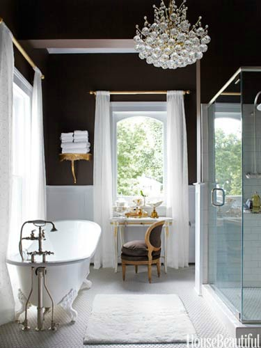 Staging the bathroom for Pretty bathrooms