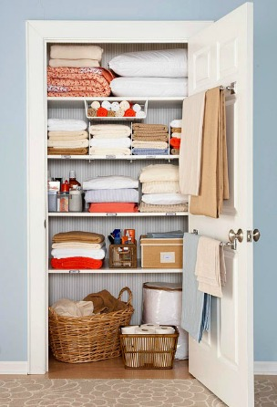 Neat and tidy linen closet