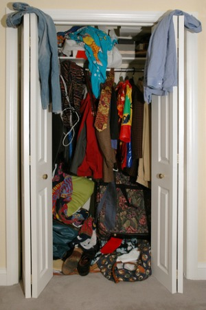 Cluttered closet interior design pictures