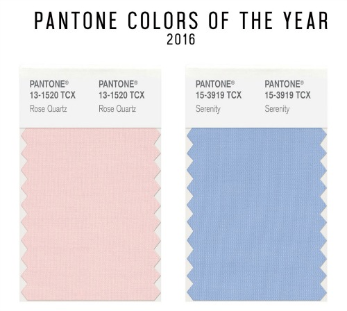 Pantone 2016 colors of the year swatches