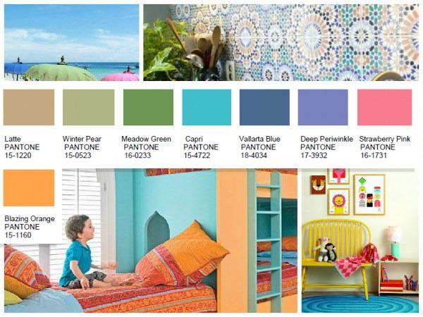Footloose Pantone color palette 2016