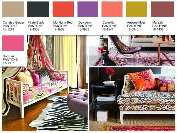 Mixed bag Pantone color palette 2016