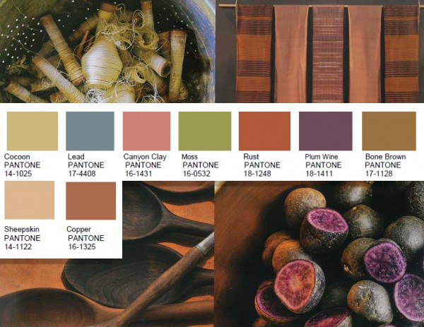 Natural Forms Pantone color palette for 2016