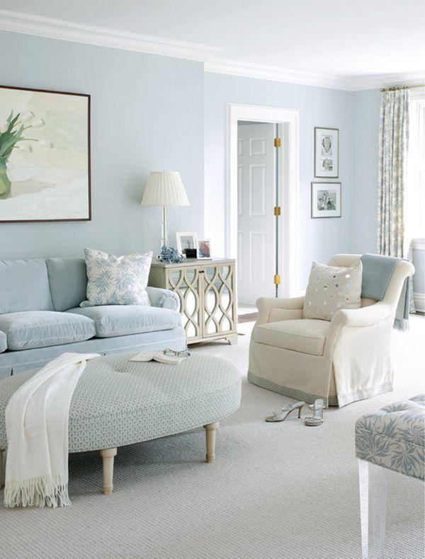 Blue monochromatic room design