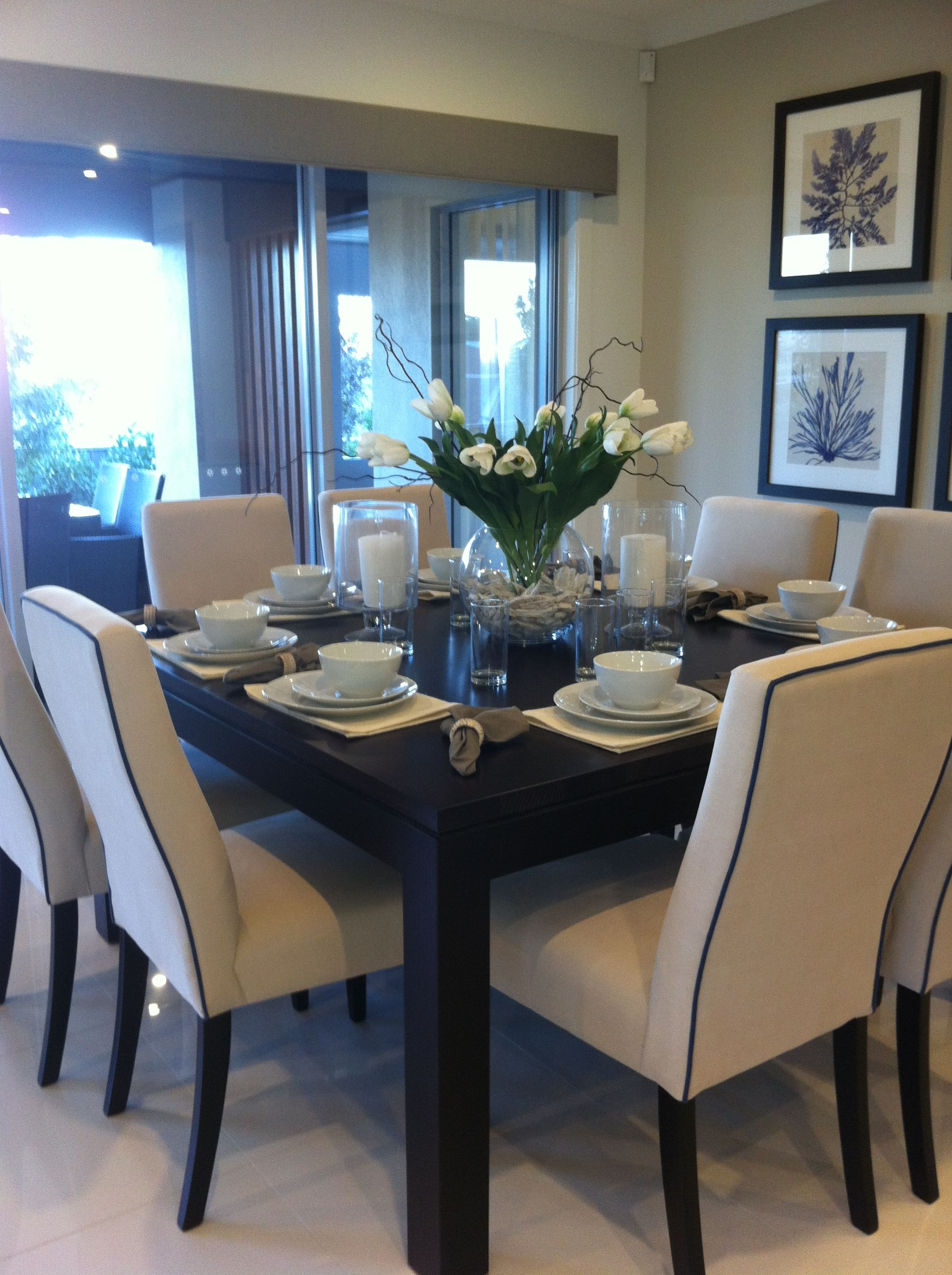 Staging The Dining Room - Dinner table for 12