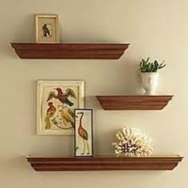 Floating Shelf Arrangement