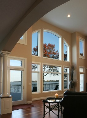 Beautiful windows with a sea view