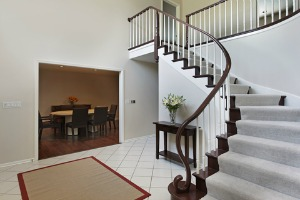 Foyer with staircase