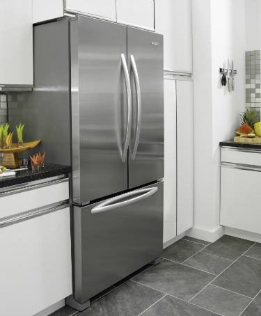 stainless steel fridge no