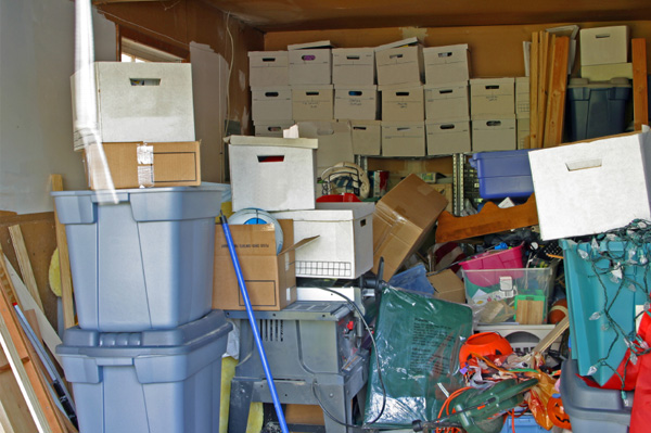 A cluttered garage could mean there is no room in the house.
