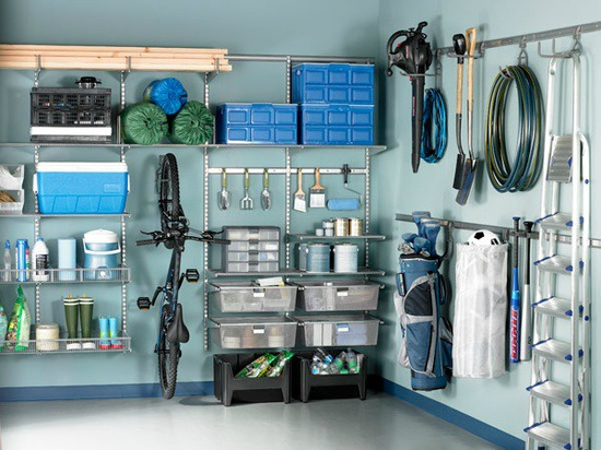 Find garage storage systems at the Container Store.