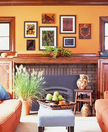 Asymmetrical wall grouping. House for sale.