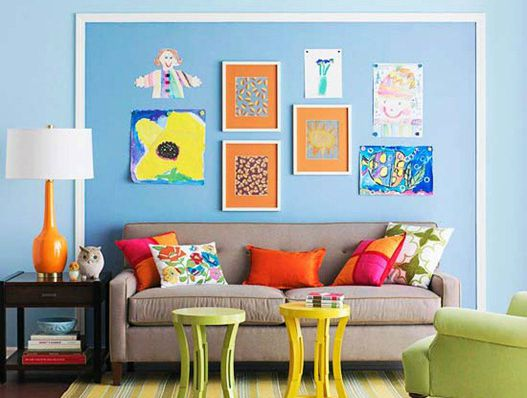 House for sale. Asymmetrical picture arrangement.