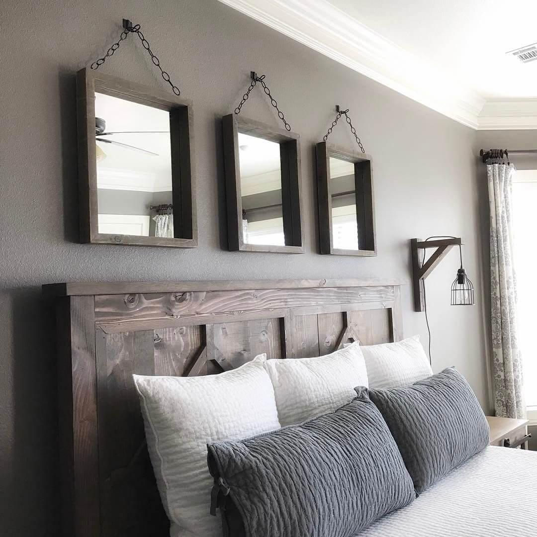 Headboard ideas. Staging the bedroom.