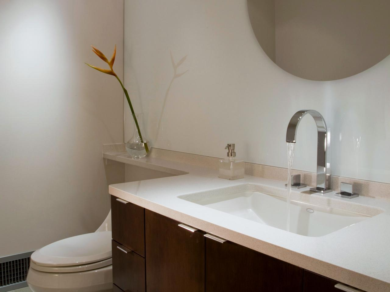 How to clean a Corian sink.