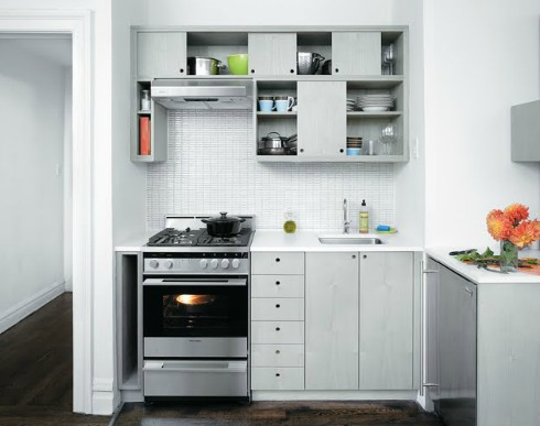 Fixtures And Appliances In A Small Kitchen