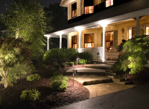 Night lighting curb appeal