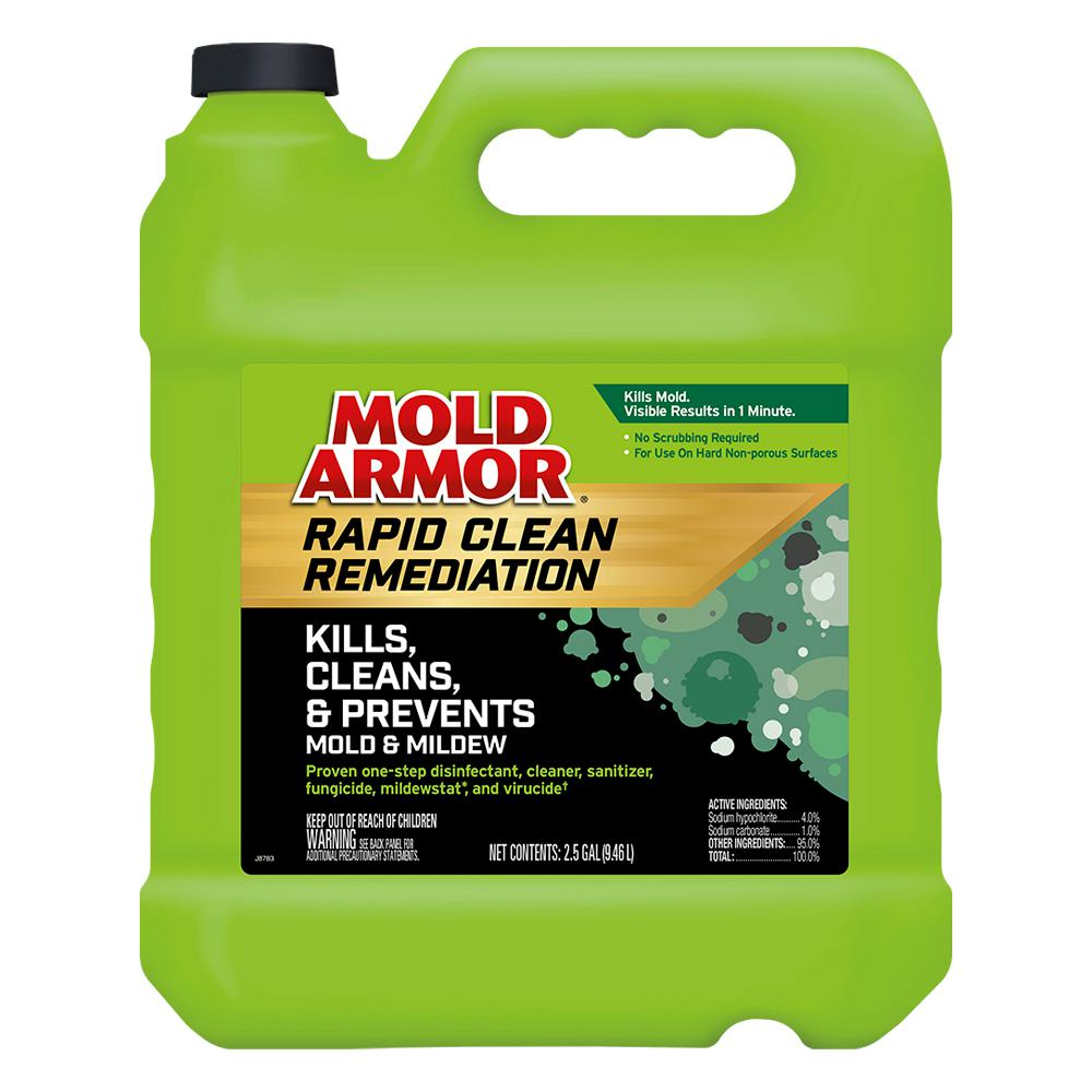 Mold Armor Rapid Clean Remediation kills, cleans, and prevents mold and mildew.