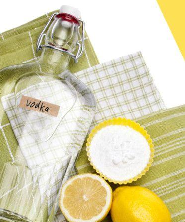 Natural odor cleaners; lemon, baking soda, Vodka