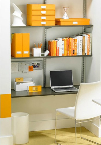 Yellow office organizers