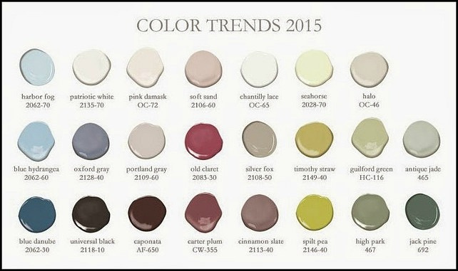 Benjamin Moore 2015 color sample