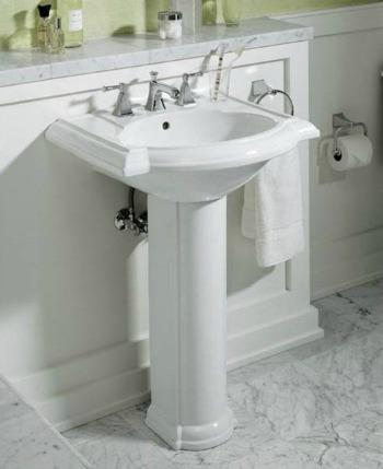 Bathroom pedestal sink