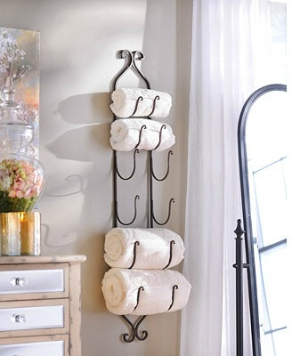 Hanging towel rack by Pottery Barn