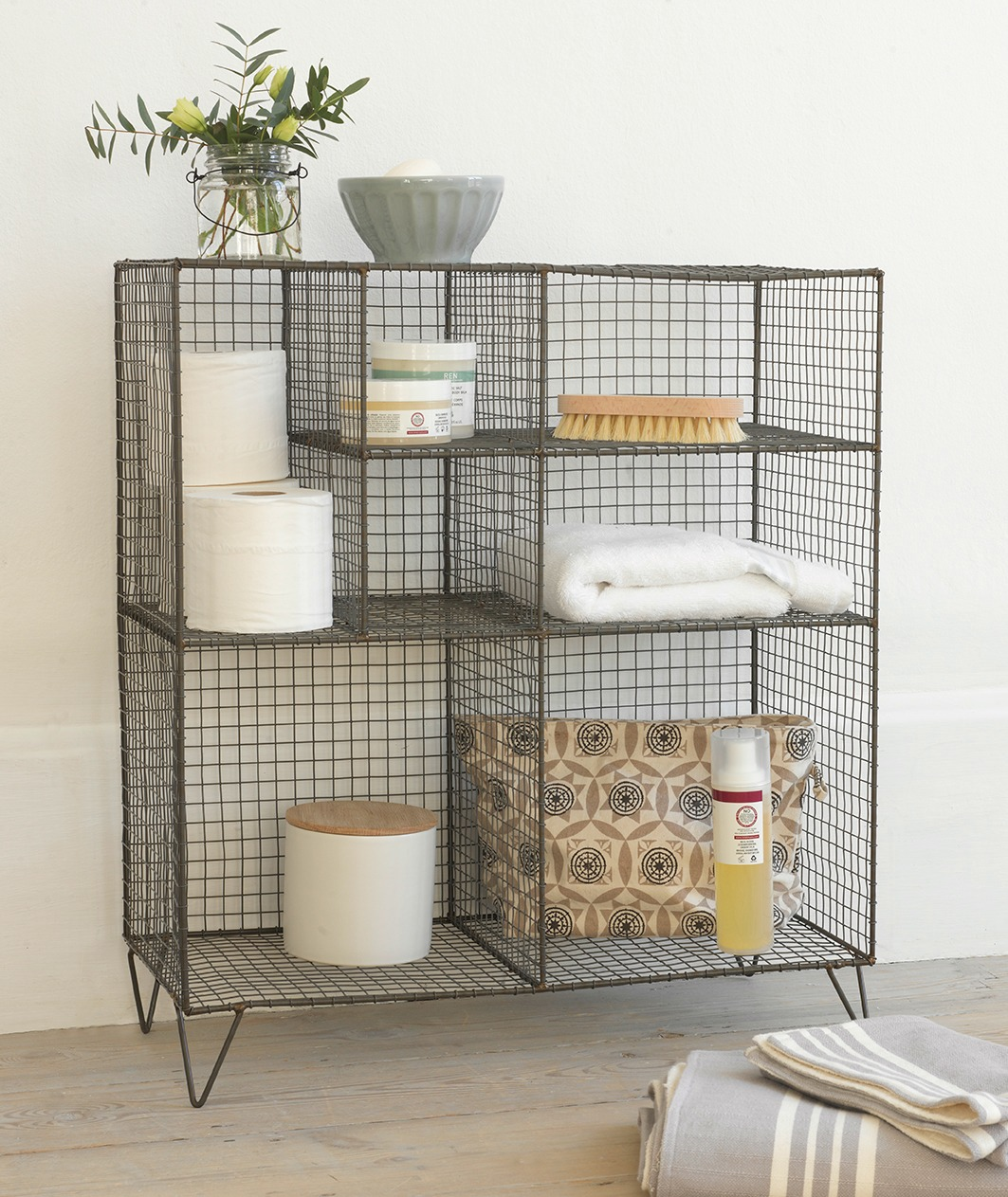 Furniture For Small Bathroom Design Wire Storage Unit