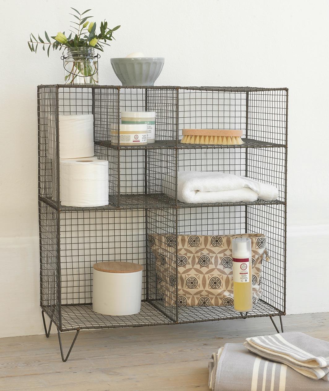 Furniture For Small Bathroom Design Wire Storage Unit