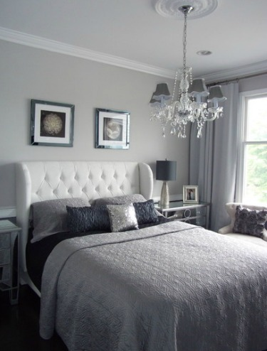 Small bedroom decorating ideas for home staging for Bedroom ideas light grey