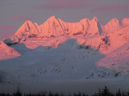 Nunatak Mountains in southeast Alaska