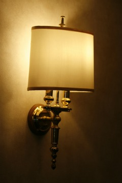 Wall sconce lighting provide subtle light and serve as decorative features in a home